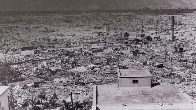 vista di Hiroshima dopo la bomba