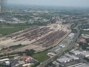 vista aerea  di scalo merci san donato bologna