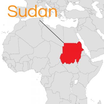 mappa dell'Africa con il Sudan in evidenza presidente al-Bashir