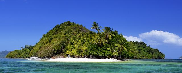 Paesaggio isola delle Filippine-